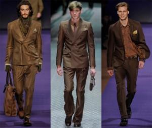 Jak nosić brązowy garnitur. Inspiracje