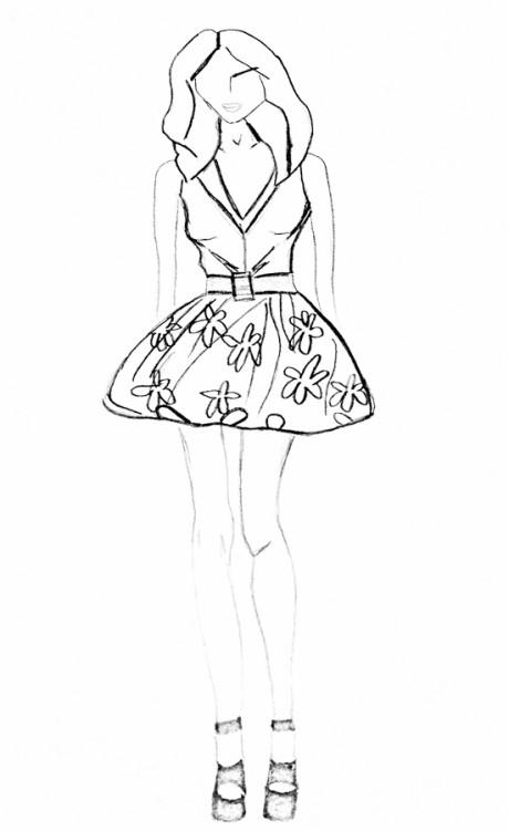 Sukienka do wąskich bioder