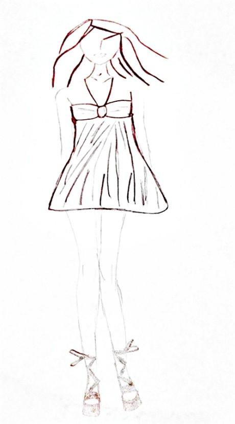 Sukienka na szerokie biodra i masywne uda