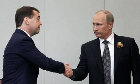 Znaczenie wzrostu. D.Miedwiediew i V.Putin