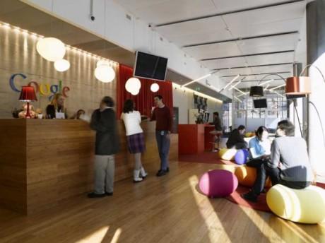 Jakie kolory do biura wybrać. Office Google. fot. www.google.ch