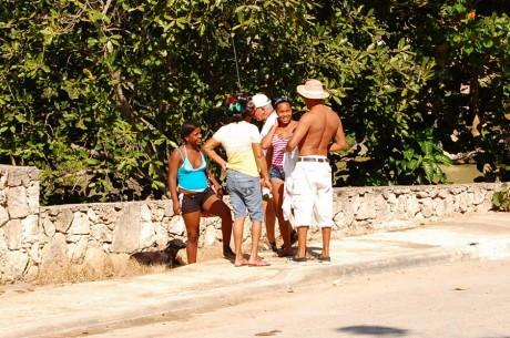 Dominikana. Kobiety z walkami na glowie