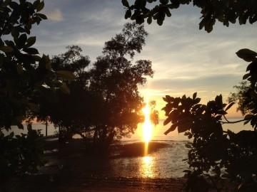 Pierwszy wschód słońca w Tajlandii